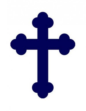 Navy Blue Cross